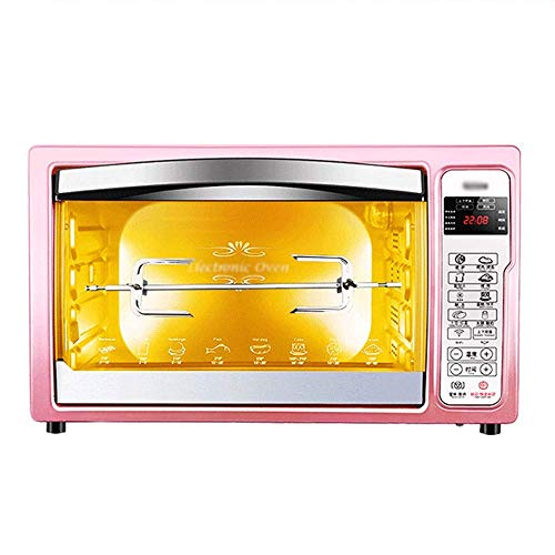 LQRYJDZ Oven, Electric Mini Oven - Smart 32L with Display Multi-Function Baking Home Rose Gold Small Electric Oven, 51x33x29cm Toaster Oven (Color : Rose Gold),Colour:Rose Gold (Color : Rose Gold)