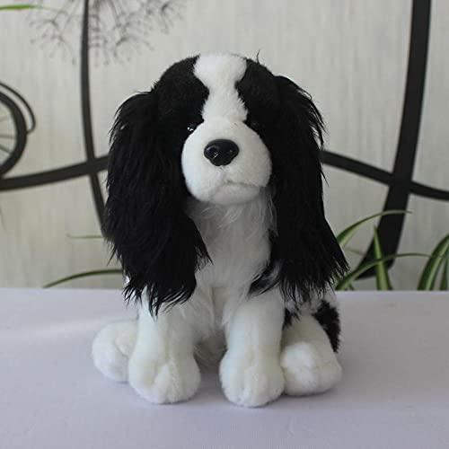 NC277 Super Lindo Beagle muñeco de Peluche de Juguete pequeño Perro muñeca Regalo para Hombres y Mujeres 25 cm Color Blanco y Negro Altura sentada 25 cm
