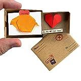 immi Origami Sorpresa, pequeño regalo en caja (cerdito/corazón)