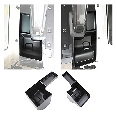 HAOXUAN Organizador de Maletero Trasero de 2 Compartimentos para Almacenamiento de Ruedas, Adecuado para Jeep Wrangler JL JLU 2018-2021, Accesorios Interiores, uno para Izquierda y Derecha, Negro