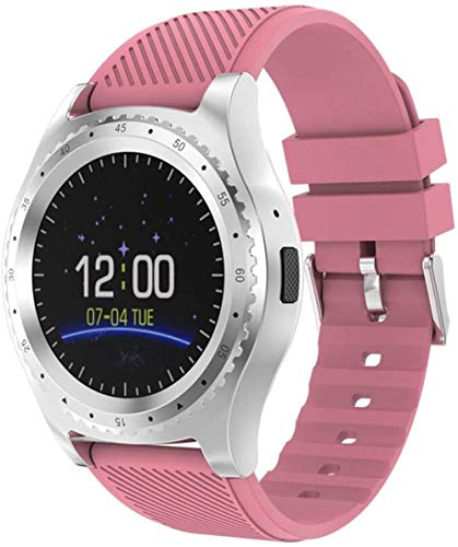 JSL Reloj inteligente inteligente reloj de silicona suave enchufable tarjeta reloj para hombres y mujeres (patrón inglés rosa) rosa