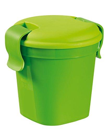 Curver - Taza S - Recipiente Redondo para Alimentos Lunch & Go - Color Verde Lima