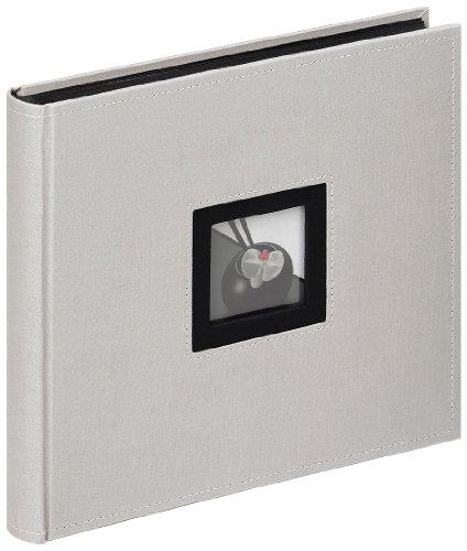 Walther Design, Álbum De Fotos, Black & White, Fa-209-D, 26x25 cm, 50 Páginas Negras, Gris