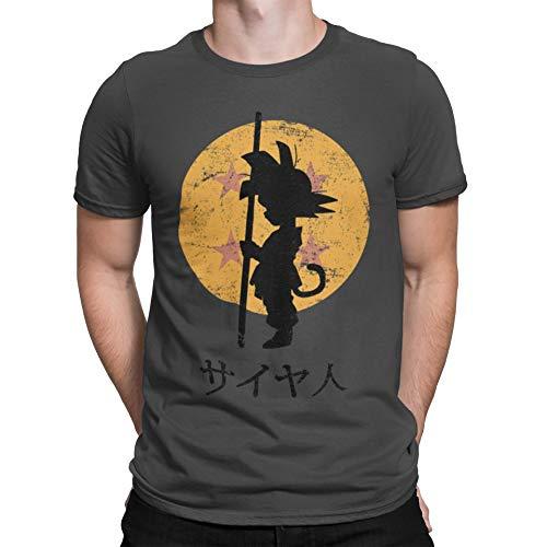 Camisetas La Colmena 164-Looking for The Dragon Balls (ddjvigo) (M, Gris Oscuro)
