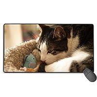 おもちゃ 猫 猫柄 マウスパッド 大型 ゲーミングマウスパッド キーボードパッド 防水マウスパッド 拡張マウスパッド 滑り止め ゲーム向け オフィス おしゃれ 750*400*3mm