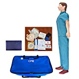 MZBZYU Maniquí para Prácticas de Primeros Auxilios Maniquí RCP para Reanimación Maniquí de Reanimación Adultos con Repuestos Reemplazables para Capacitación en Primeros Auxilios