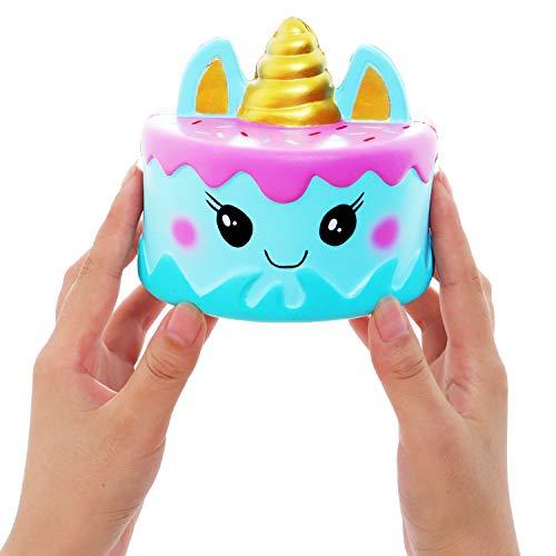 Vigeiya Squishies Unicorns 2Pcs Slow Rising Jumbo Unicorn Tray Small Unicorn Prime Cheap Kawaii Toys
