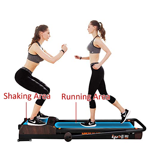 EGOFIT M2 Treadmill 3 in 1 Integrate Running Machine 7.5Mph and Vibration Platform Under Desk Treadmill Walking Machine Perfect for Office & Home