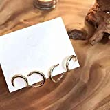 Erin Earring Fashion Double Hoop Earrings Special Design Upper and Lower Double Ear Holes Simple Geometric Metal Fashion New Earrings