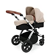 All-IN-ONE TRAVEL SYSTEM: This stylish and attractive two tone complementary design features carrycot, reversible pushchair, and Mercury i-Size car seat. Easy-click release allows for quick transitions between car and stroller. Includes an ISOFIX Bas...