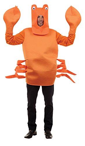 Bristol Novelty AC477 Krabbe Kostüm, Orange, Einheitsgröße