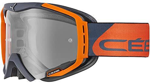 Cébé Hurricane Gafas de Ciclismo Grey/Orange Large, Adultos Unisex