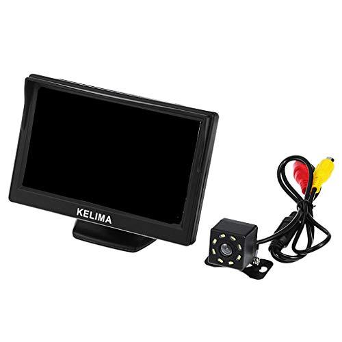 Homyl LCD Écran de Voiture Vision Nocturne Caméra de Recul Noir