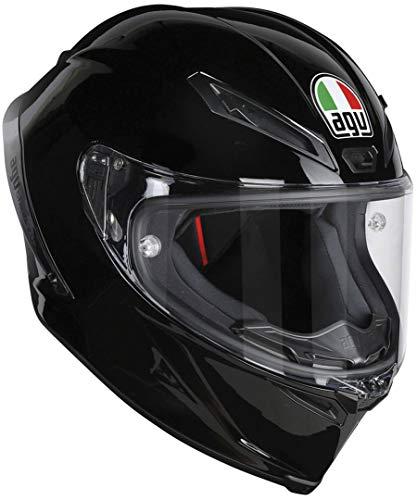 AGV Casco Moto corsa R E2205Solid plk, Negro, MS
