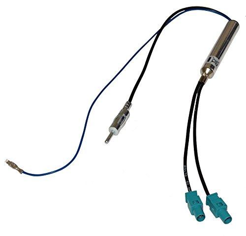 Aerzetix versterker adapter voor autoradio FAKRA dubbele DIN C1398