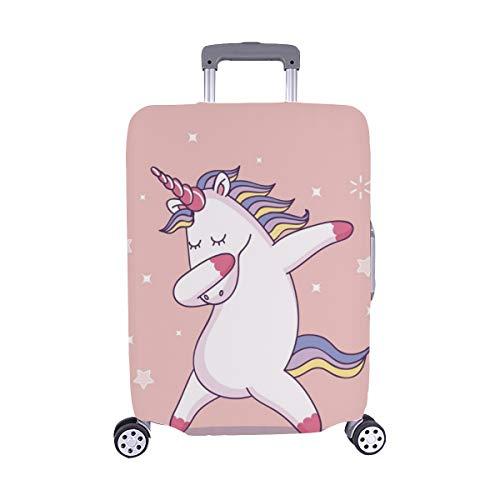 (Solo Cubrir) Unicornio Lindo Dabbing patrón Trolley Maleta de Viaje Protector de Equipaje Maleta Cubierta Protectora para 28.5 x 20.5 Pulgadas