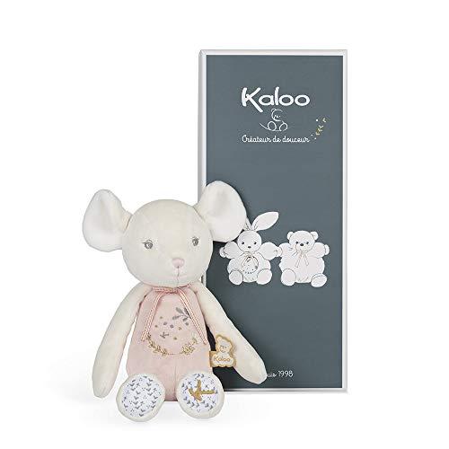 KALOO Perle-Peluche Pantin ratón rosa-25cm, Color Rosado/Blanco (Juratoys K969964) (Juguete)