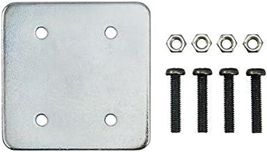 iBOLT - Placa de Embalaje de Metal con 4 Agujeros AMPS con Tornillos, Ideal para Todos los Soportes de Base de Taladro AMPS