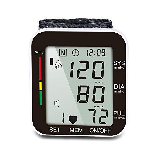 WANGXN Handgelenk-Blutdruckmessgerät 2 Benutzermodi mit jeweils 90 Speicherkapazitäten für den Heimgebrauch,Blue
