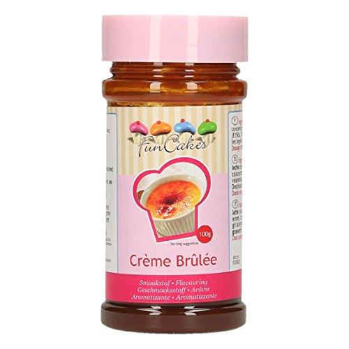 FunCakes Aroma de Crème Brulée de FunCakes: Aromas Alimentarios, Gran Sabor, Perfecto para Decorar Pasteles, Adecuado para Masas y Rellenos. 100 g