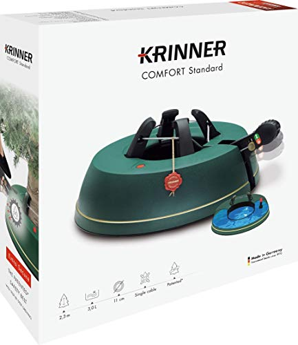 Krinner Comfort Christmas Tree Stand, Standard, Green, 34 x 34 x 9 cm