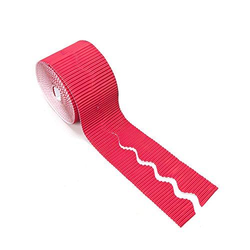 Pryse 5300001 Bordes Decorativo, Rollo 10 cm x (7,5 x 2) m, Rojo