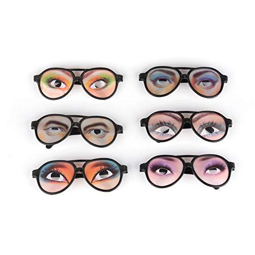 Deanyi 2 STÜCKE Lustige Gläser Halloween Trick Spielzeug Männlich-weibliche Augen Gläser Streich Brillen Party Requisiten (Gelegentliche Farbe)