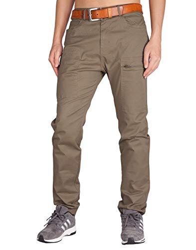 Italy Morn Pantalones Chinos Cargo Caqui Hombre Tallas Grandes Combate (40, Madera Caqui)