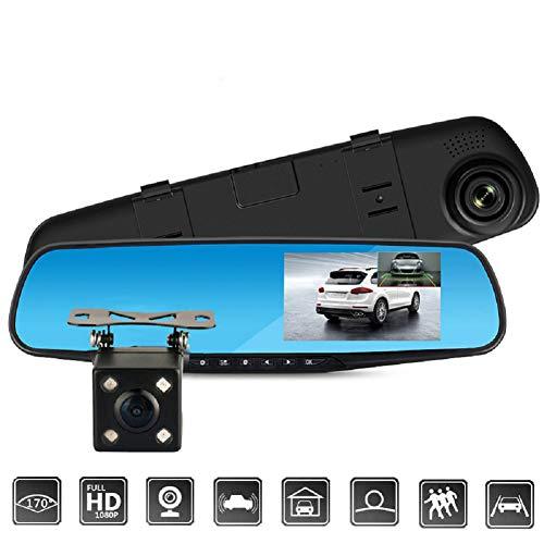 Auto Dash Cam, 1080P Full HD 170, Weitwinkel, Armaturenbrett, Kamera, Auto-DVR, Fahrzeugrekorder Mit G-Sensor, WDR, Schleifenaufnahme, Blendfreiem Blauen Spiegel (5 inch)