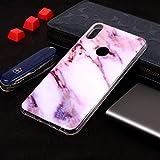 WEI RONGHUA ASUS Funda Funda de TPU Suave con diseño de mármol de Plum Blossom para ASUS Zenfone MAX Pro (M1) ZB601KL Estuche Protector (Color : Púrpura)