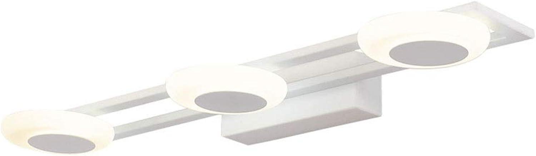 BAIF Badezimmerspiegelleuchten LED Spiegel Scheinwerfer Acryl Schlafzimmer Wandlampe Badezimmer Bad Make-up Lampe Spiegel Schrank Licht [Energieklasse A +] (Farbe  NeutralLight, Gre  50CM)