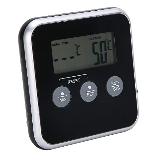ROMACK Termómetro de Cocina, termómetro inalámbrico de Alimentos para el hogar con Temporizador para Cocina casera para Barbacoa