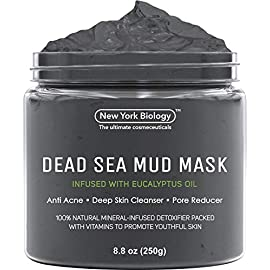 New York Biology Dead Sea Mud Mask Infused with Eucalyptus - Spa Quality Pore Reducer to Help with Acne, Blackheads and Oily Skin - 8.8 oz 3 <p>DEAD SEA MASK INFUSED WITH EUCALYPTUS works for all skin types, including dry, normal, oily, combination, sensitive, and irritated. This daily acne treatment has been designed to be highly effective yet gentle enough for everyday use. MINERAL-INFUSED Clarifying Mud Mask is based on an advanced formula composed of Dead Sea mineral mud that gently purifies and cleans clogged pores. Combined with an herbal complex of Aloe-Vera, Calendula Oil, Vitamin E, Sunflower Seed and Jojoba Oil. PURE DEAD SEA MUD helps to effectively cleanse the skin and provide a soothing sensation. Rich in minerals, the pure mud aids skin renewal, creating a gentle exfoliation effect that removes excess oil, toxins, and dead skin cells for a softer feel and radiant glow. REDUCES PORES & ABSORBS EXCESS OIL our Spa Quality Mud removes dead skin cells, dirt and toxins to reveal fresh, soft skin. Mud treatment is also known to stimulates blood microcirculation and refines texture. OUR DEAD SEA MUD MASK is made using the Highest Quality Ingredients. Produced in our FDA Approved cGMP Facility it does not contain alcohol, parabens or sulfates and is Cruelty Free.</p>
