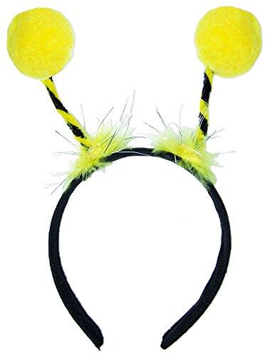 Bienen Haarreif zum Kostüm mit gelben Bommeln