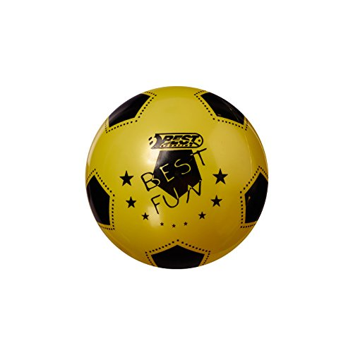 Best Sporting PVC-Ball Fun, 23 cm, Fußball Spielball Beachball Wasserball, gelb