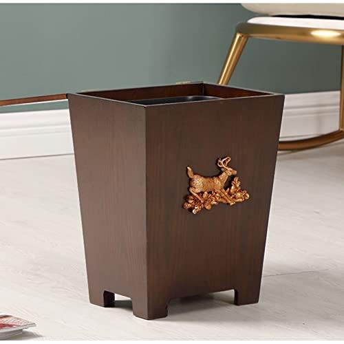 La papelera de moderna puede desperdiciar el almacenamiento con cubo de contenedor de basura de la forma de cubo para las salas de polvo de baño de oficina en el hogar con cubo de basura de plástico