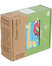Clementoni - 16228TR - Play For Future - Shape Cubes - Hayvanlar, eğitici oyuncak