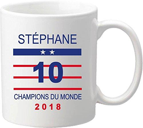 Mug Coupe du Monde de Football 2018 - France Champions du Monde 2018 - offrez vous ce mug personnalisé de l'équipe de France de football - maillot Mug-2018-C