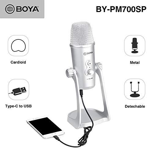 BOYA BY-PM700SP USB-Kondensatormikrofon für iOS Android Windows Mac Computer-Mikrofone für die Aufnahme von Rundfunk- und Fernsehprogrammen Padcasting