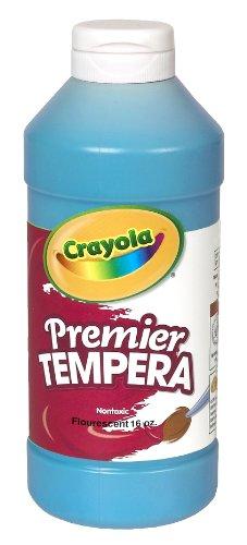 Crayola Fluorescent Paint 16-Ounce Plastic Squeeze Bottle, Ele Countric Blue