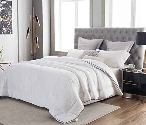 Eucalyptus Comforter 100% Oeko-Tex Certified -Like a Cloud | Silky Soft, Skin-Friendly, Alternative Down | One-Piece Air-Fluff – Won't Bunch | Hypoallergenic