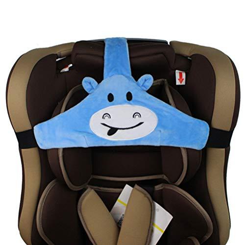 Feelairy Baby Autositz Kopfband, Kindersitz Befestigung Kopfband Einstellbare Baby Kopfstützgurt Kopfstützhalter Sicherheitssitz Befestigungsgurt für Kinder Baby (Blau)