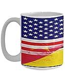 N\A USA Mosambik Flagge weiße Kaffeetasse Teetasse American Immigrant Country