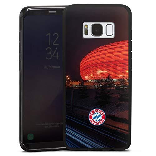 DeinDesign Silikon Hülle kompatibel mit Samsung Galaxy S8 Case schwarz Handyhülle FCB Stadion FC Bayern München
