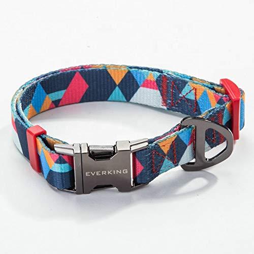 Everking Hundehalsband Halsband Modern Mehrfarbig verstellbar (Large, 0202-6)