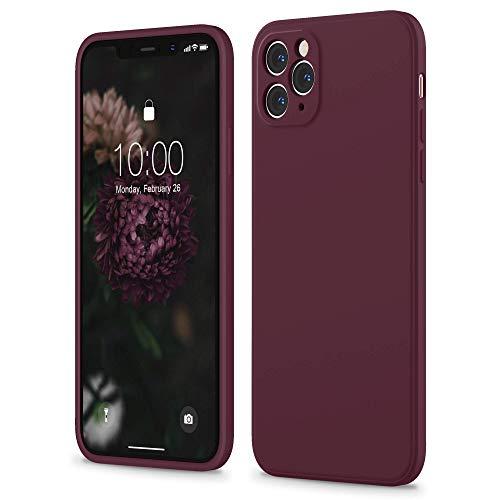 SURPHY Funda de Silicona Cuadrada Compatible con el iPhone 11 Pro Case líquida de Borde Cuadrado de 5,8 Pulgadas (Cada Lente protegida Individualmente) para el iPhone 11 Pro(Ciruela)
