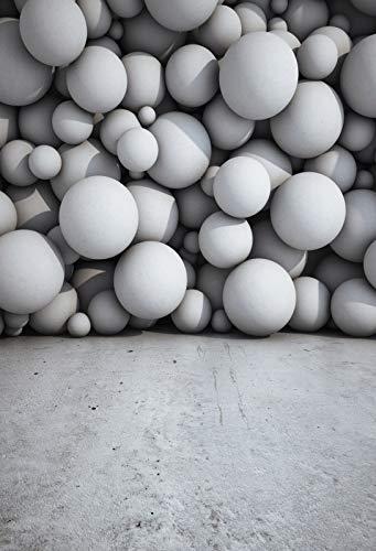 Fondos de Pared Gris para fotografía Bombilla de ladrillo Fiesta Interior fotografía Fondos sesión fotográfica Estudio fotográfico A4 10x10ft / 3x3m