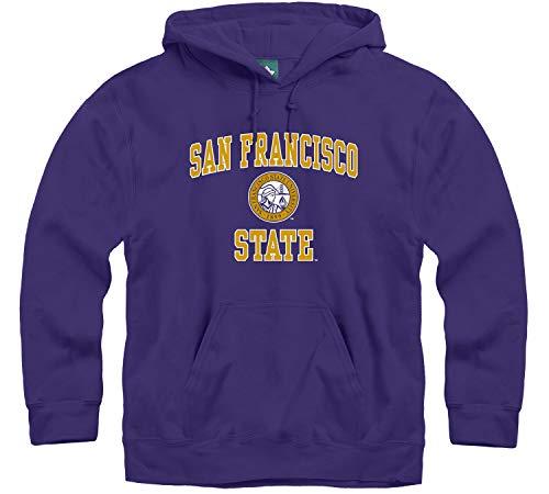Ivysport San Francisco State University Gators Hooded Sweatshirt, Heritage, Purple, Large