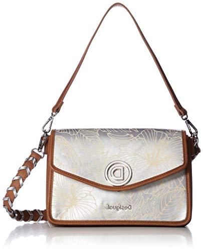 DESIGUAL AKELA AMORGOS Handtassen dames Zilver/Camel - One size - Handtassen lang hengsel