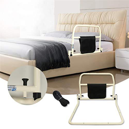 QDY-Bedside Handrails Barandilla de Noche anticaída para Adultos Mayores, barandilla de Noche con Bolsillo de Almacenamiento útil y cinturón de Seguridad, Ancianos en rehabilitación